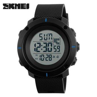 SKMEI Men Sports Watches Military 50M Waterproof LED Digital WatchClock Men Fashion Outdoor Wristwatches - Blue - intl