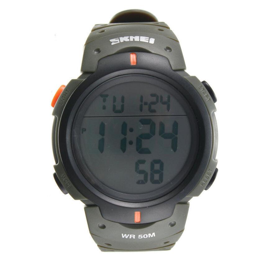 SKMEI Waterproof LED Light Digital Date Alarm LCD Wrist Watch Men Women Sports
