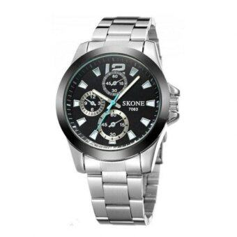 SKONE นาฬิกาข้อมือผู้ชาย รุ่น SKB7063 (Black) image