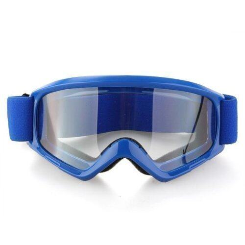 Sport Snow Ski Motocross Motorbike Quad Bike Bicycle Helmet Goggles Glasses (Blue)