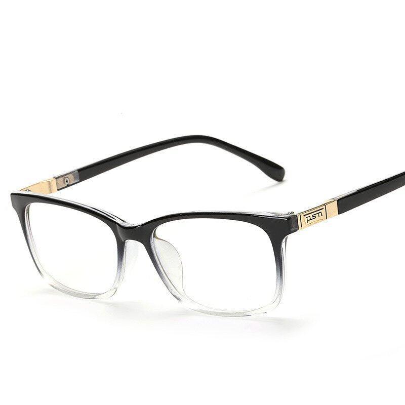 Square Frame Art Retro Glasses Unisex Computer Safety Goggles Against Radiation Eyeglasses(color1)