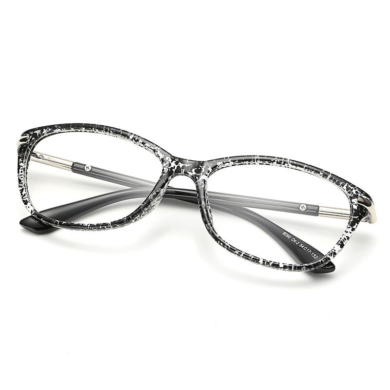 Super Light Retro Fashion Style Square Frame Clear Lens Unisex Eyeglasses(black)
