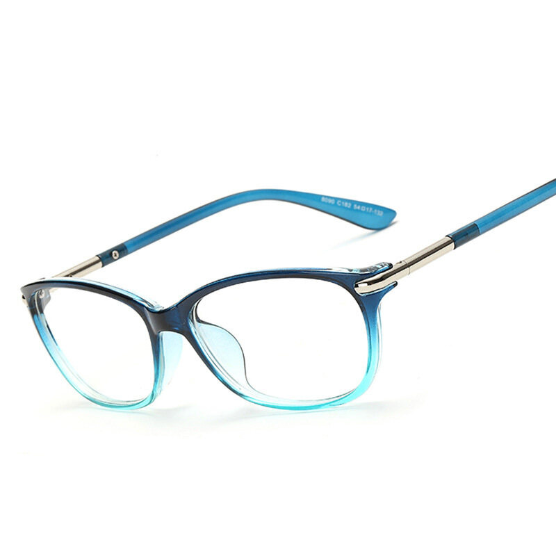 Super Light Retro Fashion Style Square Frame Clear Lens Unisex Eyeglasses(blue)