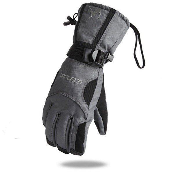 Super Warm Wind Completely Waterproof Ski Motorcycle Gloves (Grey/Black)