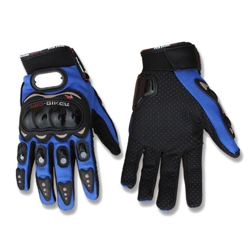 SW Motorcycle Gloves Motorbike Carbon Fiber Biker Bike Racing Full Finger Blue XXL (Intl)