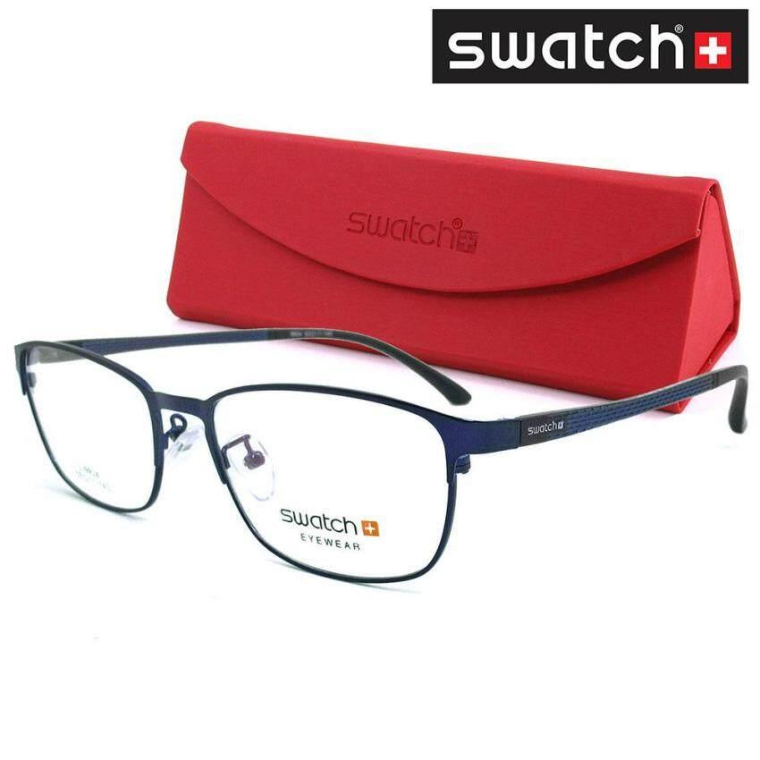 SWATCH แว่นตา สำหรับตัดเลนส์ Stainless Steel สีน้ำเงิน Combination (MADE IN KOREA) ...