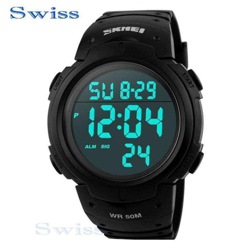 Swiss SKMEI Watch นาฬิกาข้อมือ นาฬิกาข้อมือผู้ชาย กันน้ำ No.0103 - Black