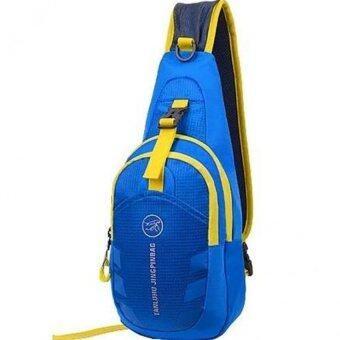 Tanluhu กระเป๋าสะพายพาดลำตัว กระเป๋าคาดอก Travel Shoulder Bag รุ่น D02N (สีฟ้า)