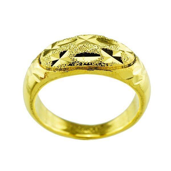 aaa Tfine แหวนตัดลายเพชรชุบทองไมครอน Sbobet