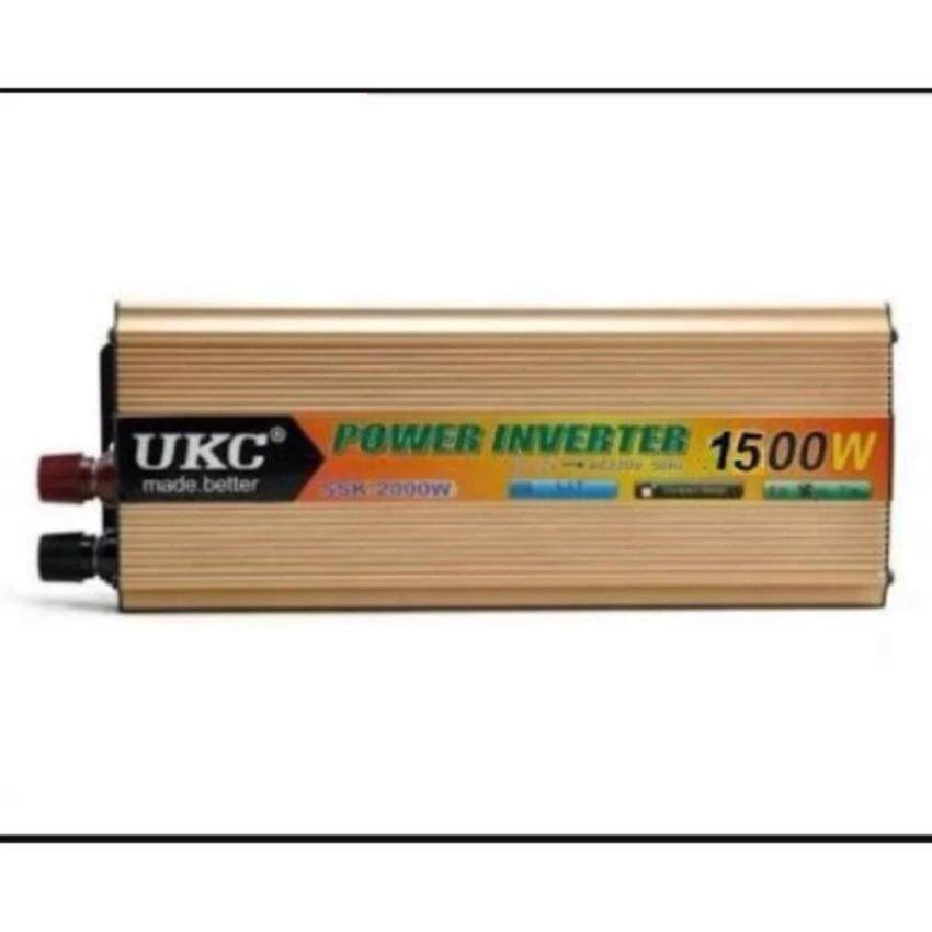 Thaivasion UKC Power Inverter 1500W with Charger 12V DC to 220V AC Output