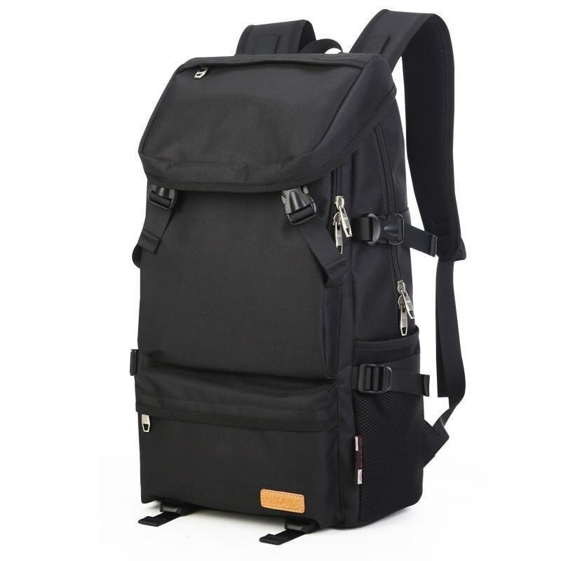 The New Trend of Leisure Travel Korean Large Capacity High Quality Backpack(Black) - intl