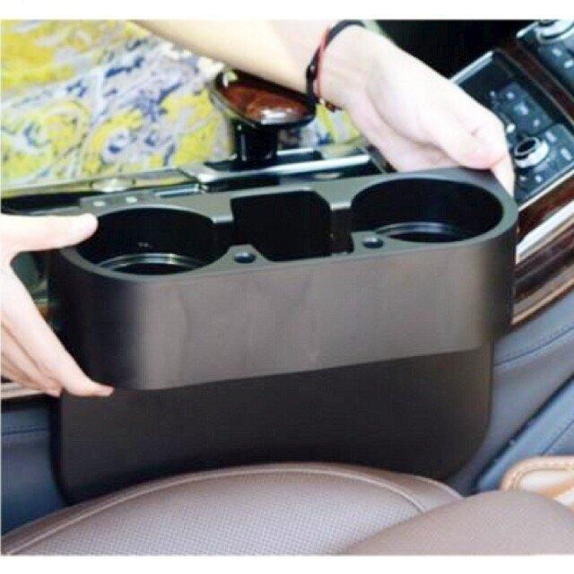 TM ที่วางแก้วน้ำเสียบข้างเบาะนั่งในรถยนต์ (สีดำ)