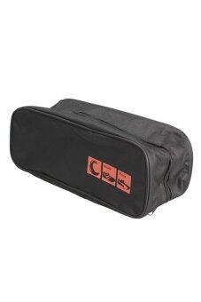 UJS New Waterproof Shoe Bag Travel Storage Visual Breathable Tote Bag Black