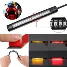 Universal Flexible 18 LED Motorcycle ATV Tail Brake Stop Turn Signal Strip Light - intl