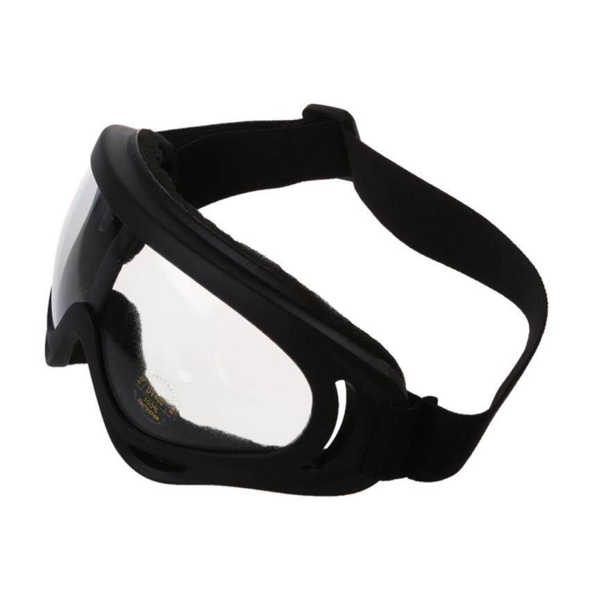 UV400 Ski Snowboard Goggle SnowMobile Motorcycle Eyewear Protective Glasses Lens - transparent