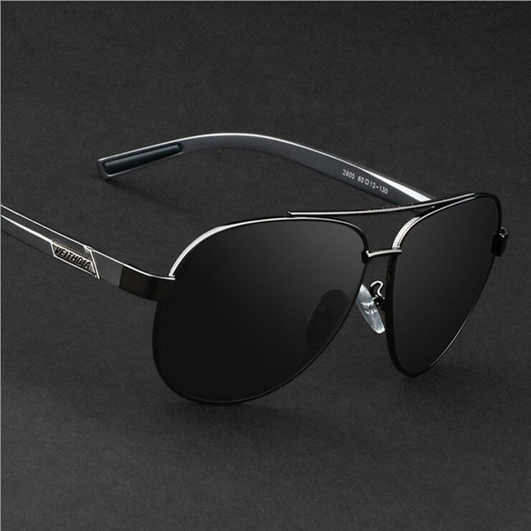 สุดยอดสินค้าVEITHDIA 2605 Polarized Sunglasses Men gun frame gray lens ราคาย่อมเยา