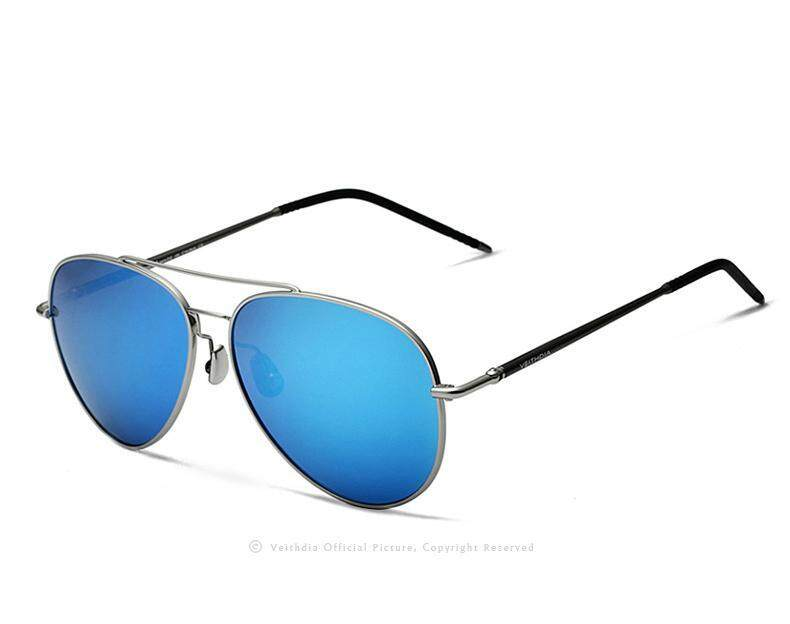 VEITHDIA Aluminum Magnesium Sunglasses Polarized Blue Lens Rotate 180 degrees leg Eyewea ...
