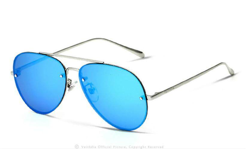 VEITHDIA Brand Rimless Fashion Unisex Sun Glasses Polarized Coating Mirror Sunglasses Oculos Male Eyewear For Men/Women 3811