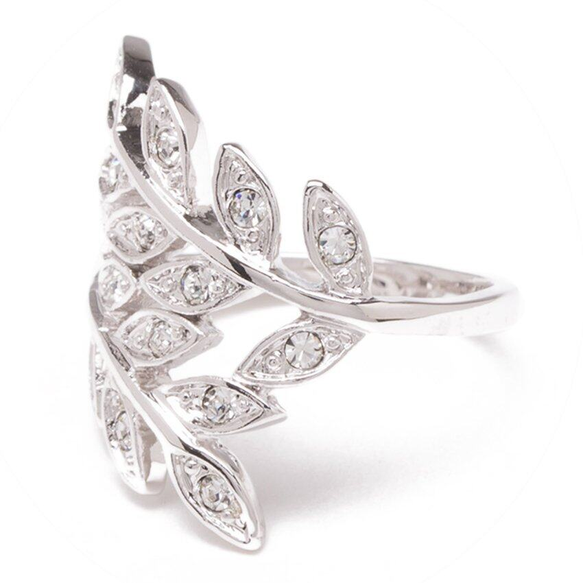 แนะนำ W-Jewelry แหวนประดับคริสตัล Austria รุ่น R0182(สีเงินกึ่งทองคำขาว) ลดราคาพิเศษ