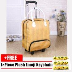 Waterproof PU Leather Travel Luggage Carry On Check in Bag Weekender Bag Shoulders Handy Style Suitcase Trolley-22 Inch As The Main Picture Shown - intl ลดราคา