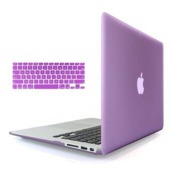 "Welink 3 in 1 Matte Apple MacBook Air 13"" Case / Soft-Touch Plastic Hard Case Cover + Anti-dust Plug + Keyboard Cover for Macbook Air 13'' [ Models: A1369 / A1466 ] (Purple)"