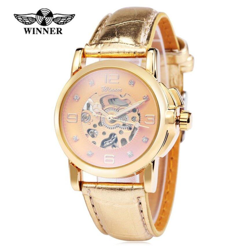 Winner H203 Female Auto Mechanical Watch Artificial Diamond Scales Wristwatch for Women  ...