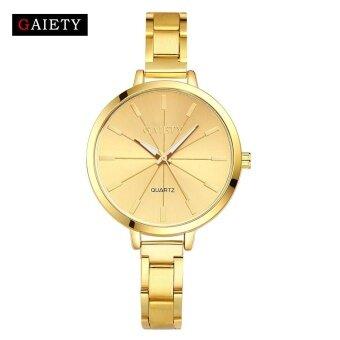 Women Fashion Chain Analog Quartz Round Wrist Watch Watches - intl