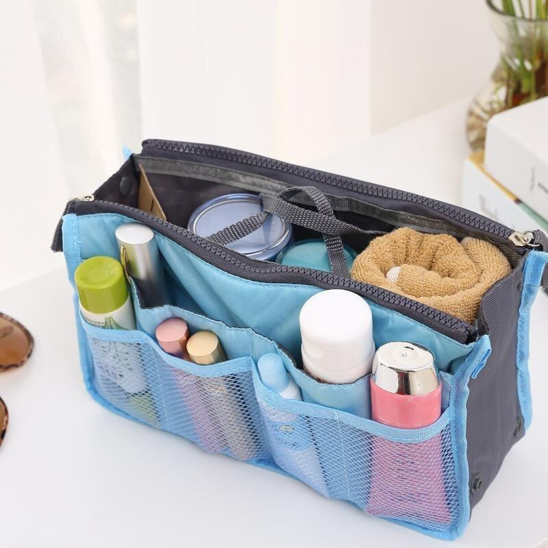 Women Makeup Organizer Bag Girls Cosmetic Bag Toiletry Travel Kits Storage Bag - intl .