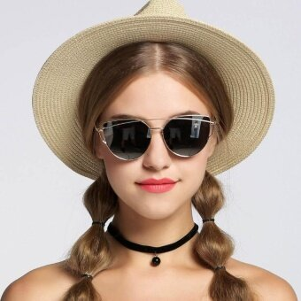 WONDERSHOP Women Sunglasses Metal Frame Mirror Big Lens?EyewearShades Glasses - intl