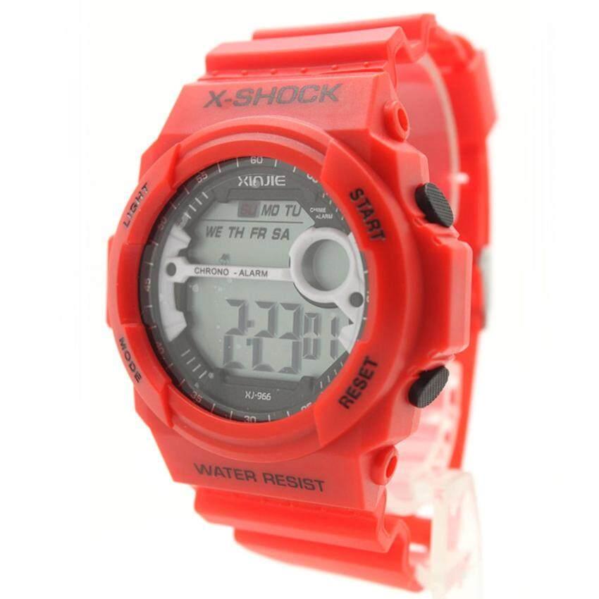 X-SHOCK นาฬิกาข้อมือผู้ชาย-ผู้หญิงและเด็ก สายยางแดง ระบบ Digital XS-E10 ...
