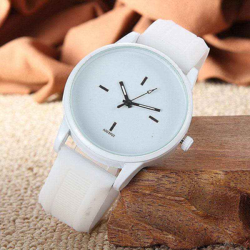 YBC Men Women Simple Big Dial Watch Delicate Quartz Casual Wristwatch - intl ...