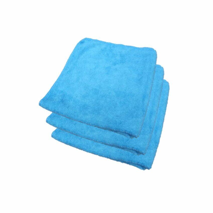 Z-one ผ้าไมโครไฟเบอร์ เกรด A ขนาด 40x40 ซม. - สีฟ้า (แพค 3 ผืน) ...