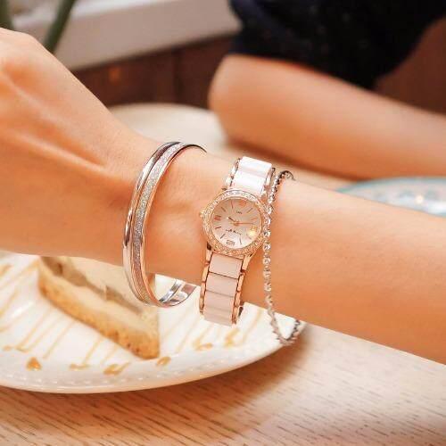 รีบเลย Zazzy Dolls ชุดคู่นาฬิกาพร้อมกำไลข้อมือ ซื้อ 1 แถม 1 รุ่นZD-0067-WH-RG สีโรสโกลด์ ฟรีกำไลข้อมือ ลดราคา