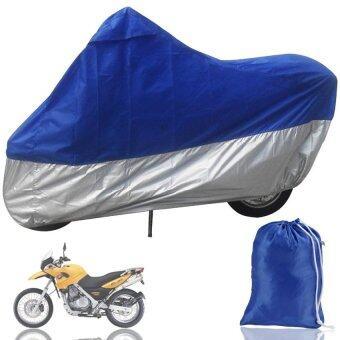 ZhuoDa ABWE! HOUSSE BACHE MOTO Couvre-Moto velo VTT scooter Taille XL245cm bleu argente protection - intl