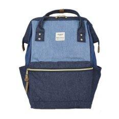 Anello Japanese latest edition กระเป๋าเป้ผ้าใบ (สีน้ำเงิน-ฟ้า)