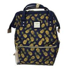 Anello Japanese original กระเป๋าเป้ผ้าใบลายสับปะรด (สีน้ำเงินเข้ม)