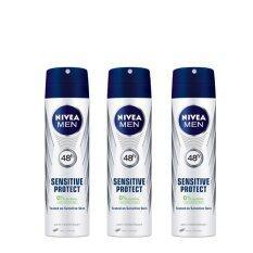นีเวีย เมน ดีโอ สเปรย์ NIVEA DEO MEN SENSITIVE PROTECT SPRAY 150 ml. (แพ็ค 3)