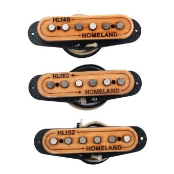 3pcs 48mm/50mm/52mm Hand Wound Guitar Pickups with Alnico5 Magnets - intl