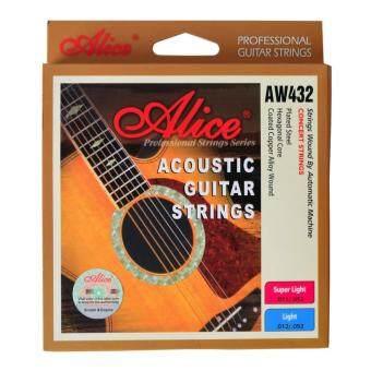 Alice สายกีต้าร์โปร่ง Light Acoustic AW432 รุ่น เคลือบกันสนิม.012-.053