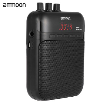 Harga ammoon AMP -01 5W Guitar Amp Recorder Speaker TF Card Slot CompactPortable Multifunction