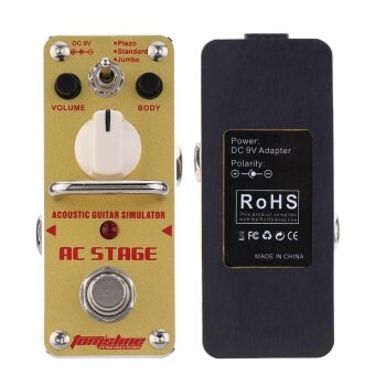 AROMA AAS-3 AC Stage Acoustic Guitar Simulator Mini Single ElectricGuitar Effect Pedal with True Bypass - intl