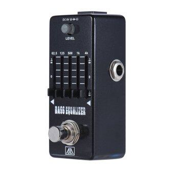 Harga AROMA AEB-5 5-Band Graphic EQ Bass Guitar Equalizer Effect Pedal Aluminum Alloy Body True Bypass - intl