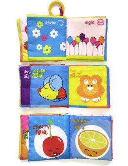 หนังสือผ้าอังกฤษ-จีนสองภาษาสำหรับเด็กเล็ก รุ่น B1-3 ชุดที่ 1 (3เล่ม) - 5