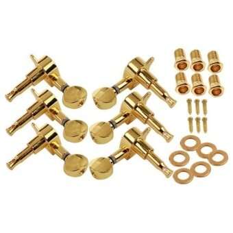 BolehDeals Electric Acoustic Guitar Tuning Pegs Locking StringTuners 3R3L With Screws - intl