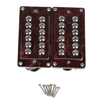 Double Coil Humbucker Pickups for Electric Guitar Set of 2 RedTortoiseshell