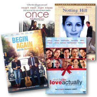 Harga DVD Love Pack - Begin Again + Once + Love Actually + Notting Hill(4 DVDs)