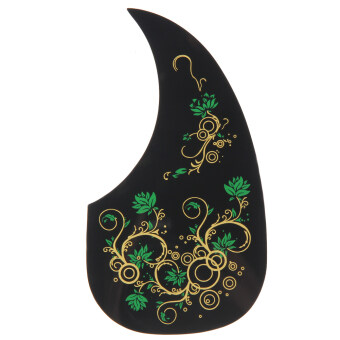 Hummingbird Acoustic Guitar Celluloid Pickguard Scratch Plate PickGuards(Green) - intl