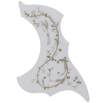 Hummingbird Acoustic Guitar Celluloid Pickguard Scratch Plate PickGuards(White) - intl