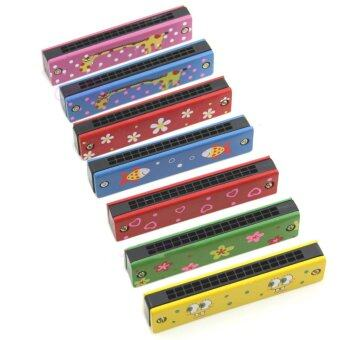 Harga Aukey Educational Wooden Harmonica Instrument Toy - intl