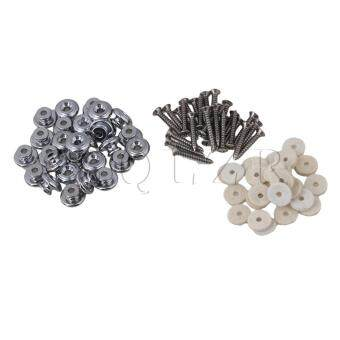 Harga Mushrooms Head Guitar Strap Buttons Set of 10 Chrome - Intl